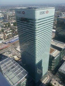 HSBC's HQ in London. Nery Alaev discusses banks and Brexit.